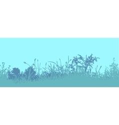 Grass horizontal seamless pattern vector
