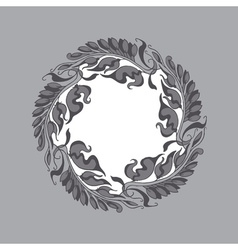 Gray Art Nouveau style vector