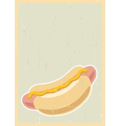 Hot dog background vector