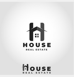 house logo with stylish letter h concept vector image