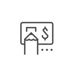invoice and bill payment line outline icon vector image