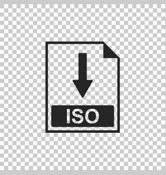 iso file document icon download iso button icon vector image