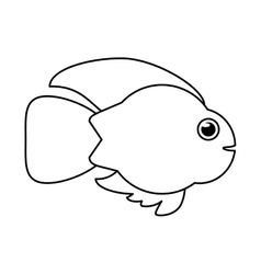 Isolated fish animal cartoon design vector image vector image