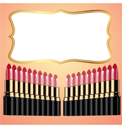 Lipstick background vector