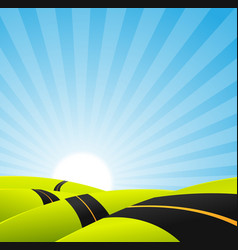 Long journey background vector