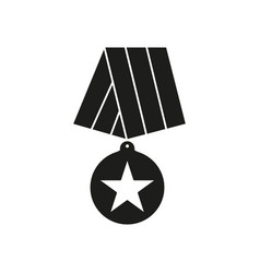 medal of veterans icons of black color vector image