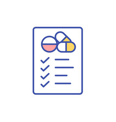 Medication management rgb color icon vector