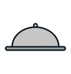 Metal platter restaurant vector