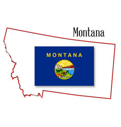 Flag, Map, Montana & State Vector Images (87)