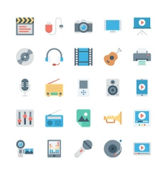 Music and Multimedia Icons 1 vector image