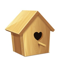 Nesting Box Heart vector image