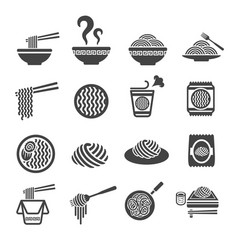 Noodle icon vector
