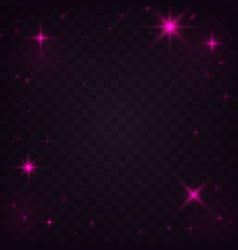 pink light effects vector image