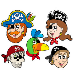 Pirate characters collection vector