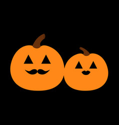 pumpkin family love couple happy halloween funny vector image