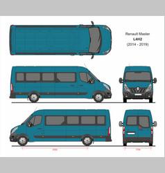 Renault master passenger van l4h2 2014-2019 vector