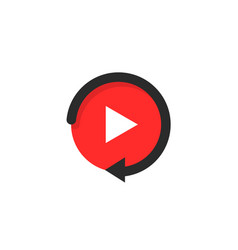replay icon like video play button vector image