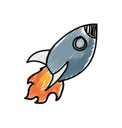 Rocket cartoon doodle vector