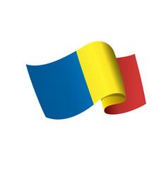 romania flag vector image