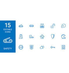 safety icons vector image