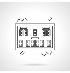 Scoreboard flat line icon vector image