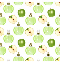 Seamless endless pattern with print perfume vector