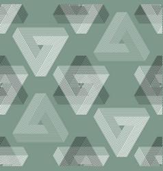 Seamless geometric imagination pattern vector