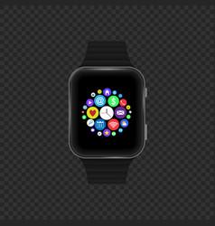 Sensor smart watch vector