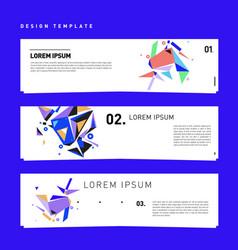 Set abstract banner web design template retro vector
