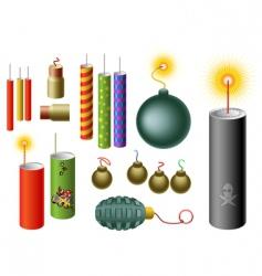 Set of firecrackers vector