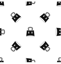 small woman bag pattern seamless black vector image