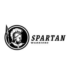spartan warriors sport logo emblem vector image