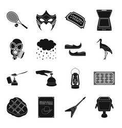 sports equipment weather and other web icon in vector image