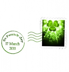 St Patrick's's stamp vector