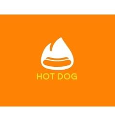Street food restaurant cafe ogo design template vector