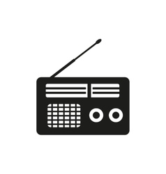 The receiver icon Radio symbol Flat vector image