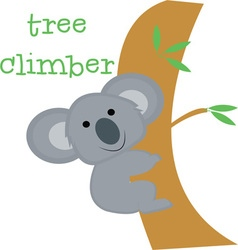 Tree climber vector