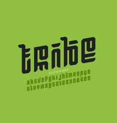 Tribal style font design alphabet letters vector