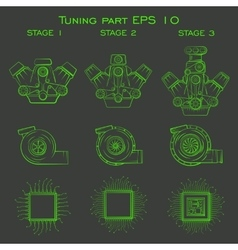 Tuning part for cars vector