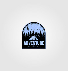 Vintage adventure logo design vector