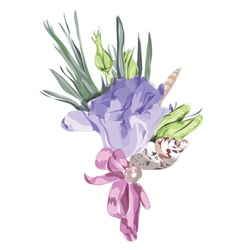 watercolor wedding flowers vector image