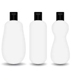 White plastic Shampoo lotion bottle cosmetic vector