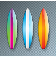 with colorful surf board vector image