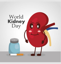 World kidney day poster prevention health care vector