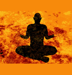 Yoga floating pose vector