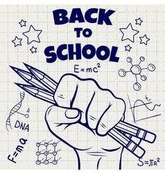 Back to school ball pen sketch vector image