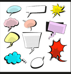hand drawn of speech bubble vector image