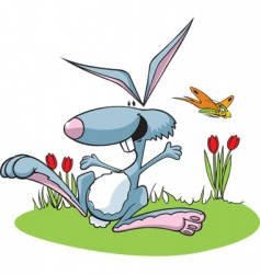 hopping rabbit vector image vector image