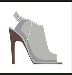 mules shoe with high heel isolated vector image