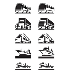 Passenger and cargo transportation vector image vector image